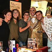 Simon Goss of SHOWBIZ host Macmillan - charity gala at Pizza Express Dean Street on 8 August 2018, London, UK.