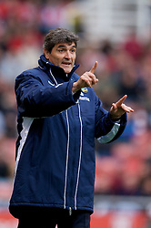 STOKE, ENGLAND - Sunday, October 19, 2008: Tottenham Hotspur's manager Juande Ramos during the Premiership match against Stoke City at the Britannia Stadium. (Photo by David Rawcliffe/Propaganda)