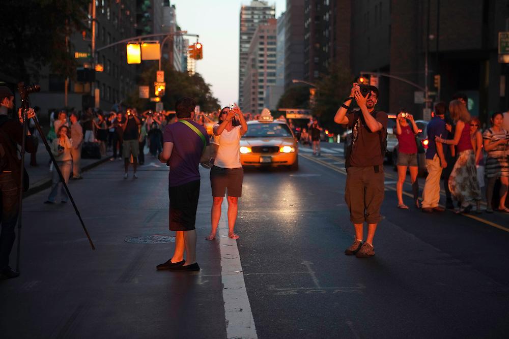 Manhattanhenge - May 31, 2010. 34th Street between Madison Ave & Park Ave.