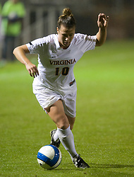 Virginia Cavaliers F/M Kelly Quinn (10)..The #3 ranked Virginia Cavaliers Women's Soccer team defeated the Maryland Terrapins 3-0 at Klockner Stadium in Charlottesville, VA on October 25, 2007.