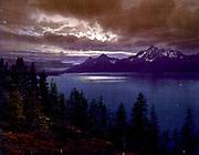 The Teton Range from Yellowstone Park, Wyoming. Photomechanical print  c1900.