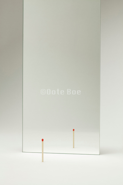 mirror with a new matchstick