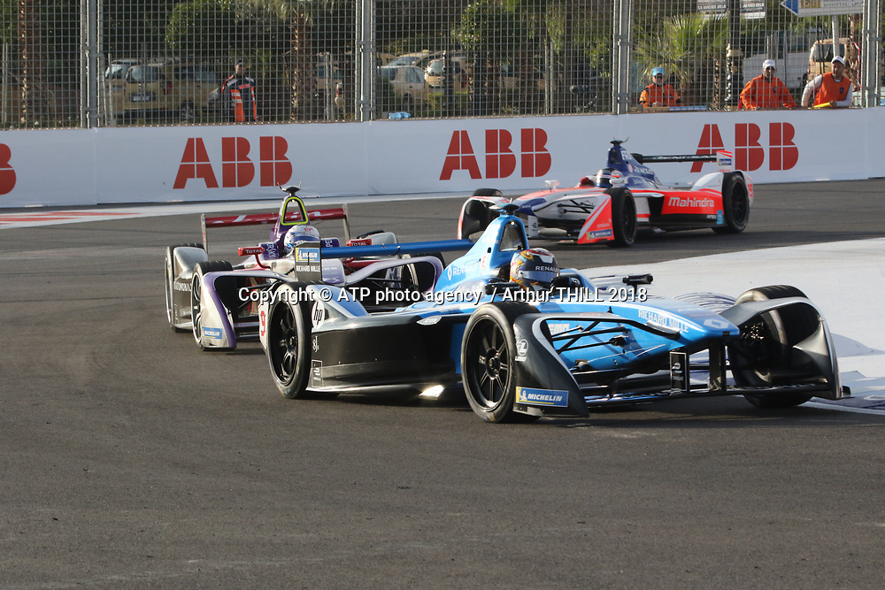 9, Sebastien Buemi (SWI) - Renault e.dams, Renault Z.E. 16<br /> E-Prix, FIA Formula E, Formula E Grand Prix in Marrakesh, Morocco on 13 January 2018. Circuit International Automobile Moulay El Hassan -  Formel E, Elektro e-prix Autorennen, Marrakesch, Marokko, Maroc, <br /> fee liable image, copyright@ ATP Arthur THILL