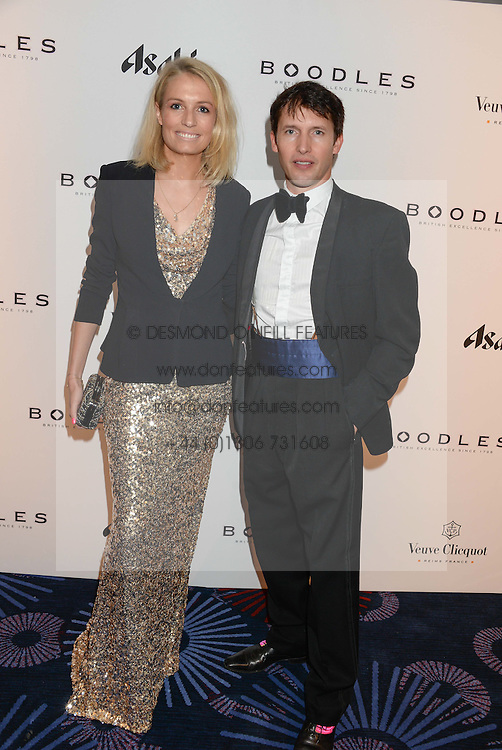 British fine jewellery brand Boodles welcomed guests for the 2013 Boodles Boxing Ball in aid of Starlight Children's Foundation held at the Grosvenor House Hotel, Park Lane, London on 21st September 2013.<br /> Picture Shows:-JAMES BLUNT and SOFIA WELLESLEY.<br /> <br /> Press release - https://www.dropbox.com/s/a3pygc5img14bxk/BBB_2013_press_release.pdf<br /> <br /> For Quotes  on the event call James Amos on 07747 615 003 or email jamesamos@boodles.com. For all other press enquiries please contact luciaroberts@boodles.com (0788 038 3003)