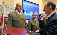 (L) PIOTR MALACHOWSKI (DISCUS) & (R) BOGDAN KLICH (MINISTER OF NATIONAL DEFENCE) DURING MILITARY SPORT'S GALA 2009 IN THE POLISH ARMY GENERAL STAFF IN WARSAW, POLAND..WARSAW , POLAND , MARCH 31, 2010..( PHOTO BY ADAM NURKIEWICZ / MEDIASPORT )..PICTURE ALSO AVAIBLE IN RAW OR TIFF FORMAT ON SPECIAL REQUEST.