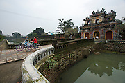 The Citadel. Dong Ba Gate, bridge across the moat.