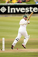 Graeme Smith works a delivery down the leg-side during Day 2 of the Sunfoil Test Series between South Africa and Australia played at Sahara Park Newlands, Cape Town, South Africa on the 10th November2011. Photo by Jacques Rossouw/SPORTZPICS