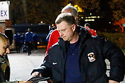 Coventry's manager Mark Robins arrives for the EFL Sky Bet League 2 match between Stevenage and Coventry City at the Lamex Stadium, Stevenage, England on 21 November 2017. Photo by Matt Bristow.