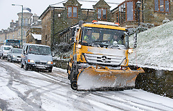 © Licensed to London News Pictures. 15/01/2013..Saltburn, Cleveland, England..As heavy snow falls on Saltburn the notorious Saltburn Bank becomes almost impassable. \even the grittier struggled to make it down without hitting a wall...Photo credit : Ian Forsyth/LNP
