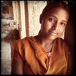 iPhone portrait of Rajyanti Bairwa, 17, in a village outside of Tonk, Rajasthan, India, April 3, 2013. &quot;I came to school and told the girls 'I am about to get married' and asked the girls go to my parents and tell them not to let the marriage happen. With their help, I refused the marriage because I want to study and be something. In life I want to be a doctor,&quot; said Bairwa.<br />