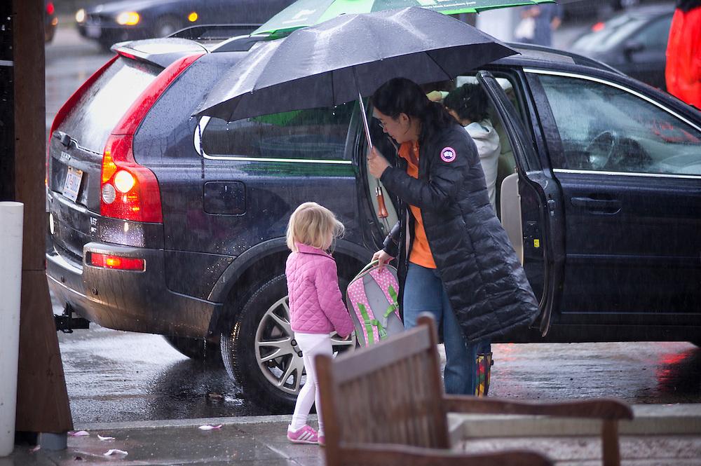 WASHINGTON (2010-2011) -- River School Kids, A rainy morning.  Photo by Johnny Bivera