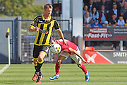 Burton's Shabe Candsell-Sherriff wins the ball from Ruben Lameiras during the Sky Bet League 1 match between Burton Albion and Coventry City at the Pirelli Stadium, Burton upon Trent, England on 6 September 2015. Photo by Aaron Lupton.