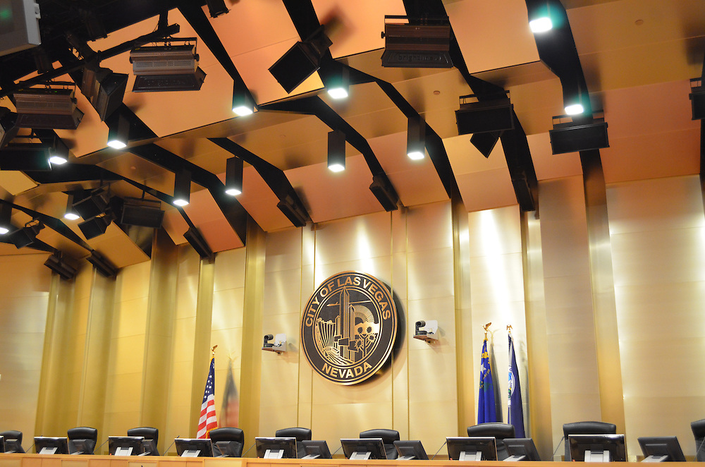 Las Vegas NV City Hall, dedicated 2012, Council Chambers and Lobby/Great Hall