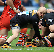 Joe Simpson of Wasps during the Aviva Premiership match at the Ricoh Arena, Coventry<br /> Picture by Michael Whitefoot/Focus Images Ltd 07969 898192<br /> 09/05/2015