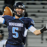 Hoggard Austin Schoenleber passes against South Central High School in the first round of football playoffs Friday November 14, 2014. (Jason A. Frizzelle)