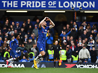 Football - 2019 / 2020 Premier League - Chelsea vs. Everton<br /> <br /> Chelsea's Olivier Giroud celebrates scoring his side's fourth goal, at Stamford Bridge.<br /> <br /> COLORSPORT/ASHLEY WESTERN