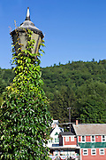 Lamp post from Bridge of Flowers in Shelburne Falls, Massachusetts.