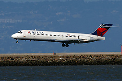 Boeing 717-2BD (N958AT) operated by Delta Air Lines landing at San Francisco International Airport (KSFO), San Francisco, California, United States of America