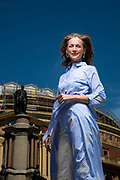 Katie Derham, photographed outside the Royal Albert Hall for the BBC Music Proms cover 2018
