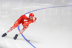 February 23, 2018 - Pyeongchang, Gangwon, South Korea - Konrad Niedzwiedzki of  Poland  at 1000 meter speedskating at winter olympics, Gangneung South Korea on February 23, 2018. (Credit Image: © Ulrik Pedersen/NurPhoto via ZUMA Press)