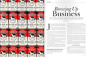Product photography of beer cans at Core Brewery in Springdale, Arkansas, for a magazine article.