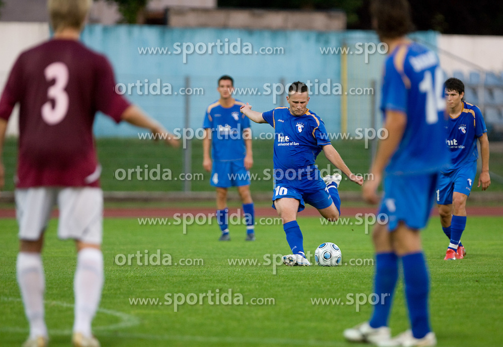 Admir Krsic scored at 1st football match of 2nd preliminary Round of UEFA Europe League between ND Gorica and FC Lahti, on July 16 2009, in Nova Gorica, Slovenia. (Photo by Vid Ponikvar / Sportida)