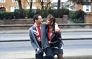 Gavin and Kelly. UK. 1980s.
