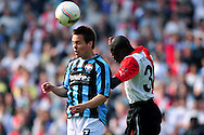 Onderwerp/Subject: Feyenoord - Willem II - Eredivisie<br /> Reklame:  <br /> Club/Team/Country: Feyenoord - Willem II<br /> Seizoen/Season: 2010/2011<br /> FOTO/PHOTO: Feyenoord's Bruno MARTINS INDI (R) in duel with Willem II's Juha HAKOLA ( Juha PEKKA HAKOLA ) (L). (Photo by PICS UNITED)<br /> <br /> Trefwoorden/Keywords:  <br /> #04 $94 &plusmn;1279295324043<br /> Photo- &amp; Copyrights &copy; PICS UNITED <br /> P.O. Box 7164 - 5605 BE  EINDHOVEN (THE NETHERLANDS) <br /> Phone +31 (0)40 296 28 00 <br /> Fax +31 (0) 40 248 47 43 <br /> http://www.pics-united.com <br /> e-mail : sales@pics-united.com (If you would like to raise any issues regarding any aspects of products / service of PICS UNITED) or <br /> e-mail : sales@pics-united.com   <br /> <br /> ATTENTIE: <br /> Publicatie ook bij aanbieding door derden is slechts toegestaan na verkregen toestemming van Pics United. <br /> VOLLEDIGE NAAMSVERMELDING IS VERPLICHT! (&copy; PICS UNITED/Naam Fotograaf, zie veld 4 van de bestandsinfo 'credits') <br /> ATTENTION:  <br /> &copy; Pics United. Reproduction/publication of this photo by any parties is only permitted after authorisation is sought and obtained from  PICS UNITED- THE NETHERLANDS