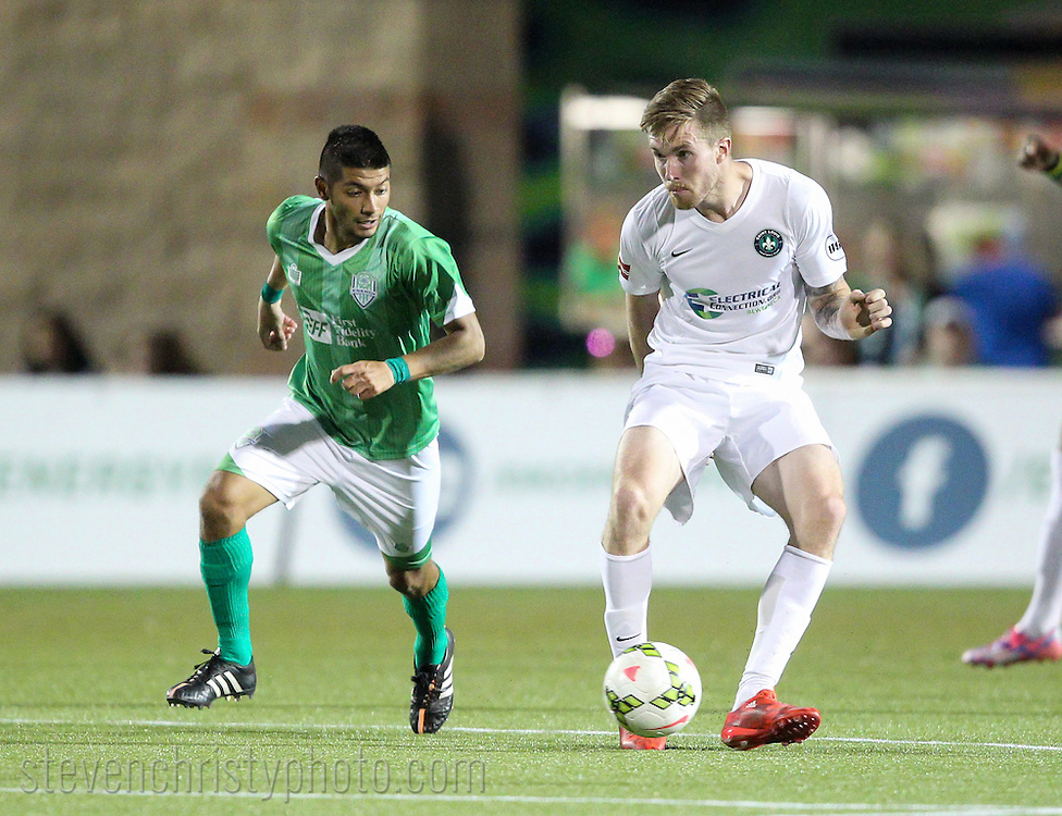 April 25, 2015: The OKC Energy FC plays Saint Louis FC in a USL Pro game at Taft Stadium in Oklahoma City, Oklahoma.
