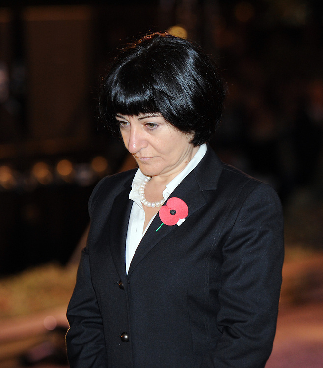 Turkish Ambassador Damia Yesim Say lays a wreath at the Cenotaph for the ANZAC Day Dawn Ceremony of Remembrance, Wellington, New Zealand, Thursday, April 25, 2013. Credit:SNPA / Ross Setford