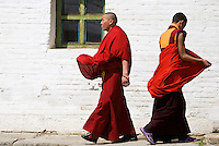 MONKS, CENTRAL MONGOLIA