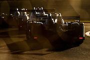 Prototypes at sunset, Petit Le Mans. Oct 18-20, 2012. © Jamey Price
