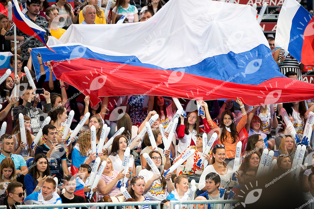 supporter Russia<br /> 4x100 medley men<br /> Swimming Nuoto Kazan Arena<br /> Day17 09/08/2015  FINALS<br /> XVI FINA World Championships Aquatics <br /> Kazan Tatarstan RUS July 24 - Aug. 9 2015 <br /> Photo G.Scala/Deepbluemedia/Insidefoto