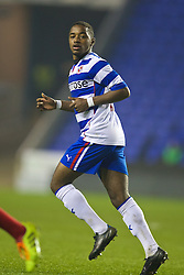 READING, ENGLAND - Wednesday, March 12, 2014: Reading's Tariqe Fosu in action against Liverpool during the FA Youth Cup Quarter-Final match at the Madejski Stadium. (Pic by David Rawcliffe/Propaganda)