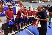 Ettore Messina, Daniele Dessena<br /> Nazionale Italiana Maschile Senior<br /> Incontro Cagliari Calcio<br /> FIP 2017<br /> Cagliari, 08/08/2017<br /> Foto Ciamillo-Castoria