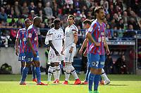 Samuel UMTITI / Maxime GONALONS - 09.05.2015 -  Caen / Lyon  - 36eme journee de Ligue 1<br />Photo : Vincent Michel / Icon Sport