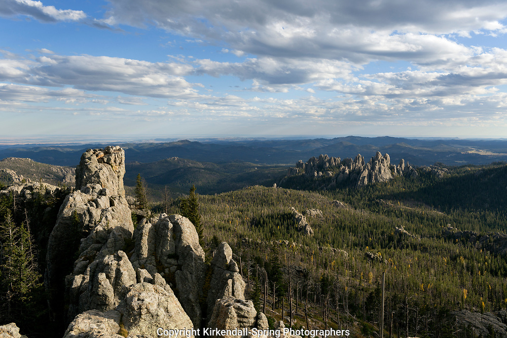 SD00052-00...SOUTH DAKOTA - View out ot Cathedral Spires from Harney Peak in Custer State Park.