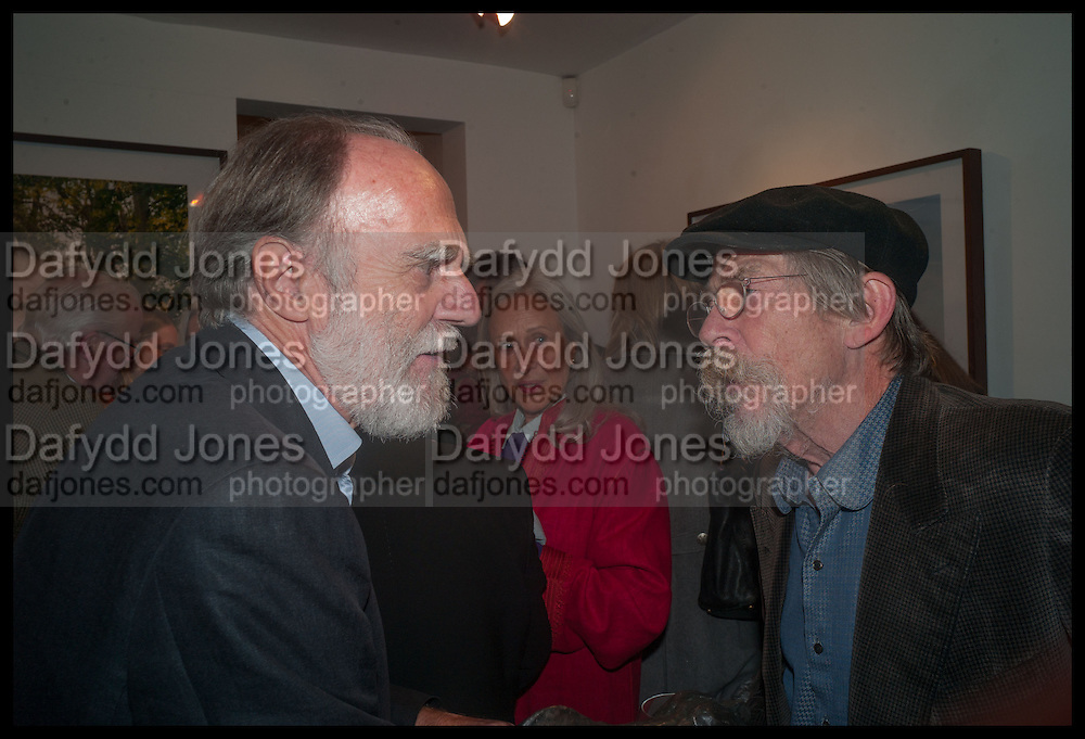 VISCOUNT COWDRAY; JOHN HURT, Mim Scala, In Motion, private view. Eleven. Eccleston st. London. 9 October 2014.