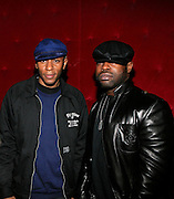 "Mos Def and Black Thought at The Roots Album realease party for ""Roots Down"" at Sutra on April 29, 2008"".. The Legendary Roots Crew, the influential, Grammy Award-winning American band from Philadelphia, Pennsylvania, famed for a heavily jazzy sound and live instrumentation, have made 10 Albums to date."
