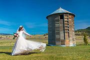A Montana bride.