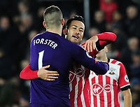 Football - 2016 / 2017 League [EFL] Cup - Semi-Final: Southampton vs. Liverpool<br /> <br /> Fraser Forster and Maya Yoshida of Southampton congratulate each other after the match at St Mary's Stadium.<br /> <br /> COLORSPORT/ANDREW COWIE