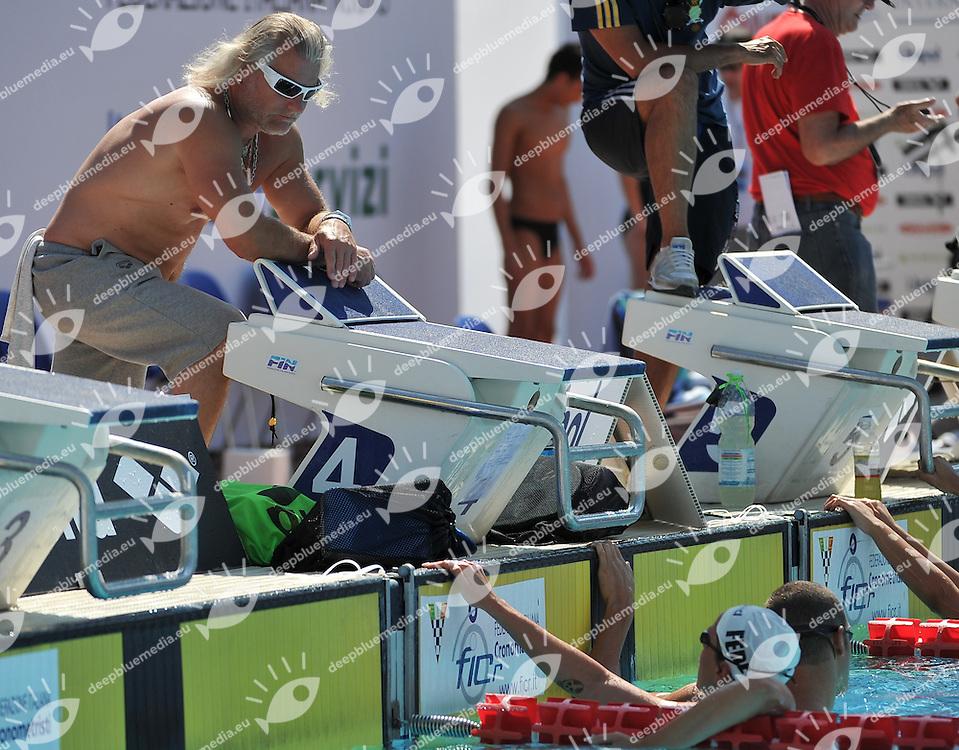Philippe Lucas, allenatore di Federica Pellegrini<br /> 50 Settecolli Trofeo Internazionale di nuoto 2013<br /> swimming<br /> Roma, Foro Italico  12 - 15/06/2013<br /> Day03 finali finals<br /> Photo Andrea Masini/Deepbluemedia/Insidefoto