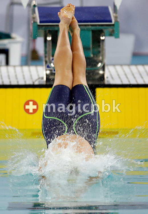 Shayne REESE of Australia starts in the women's 100m Individual Medley (IM) heat during day two of the 8th FINA World Swimming Championships (25m) held at Qi Zhong Stadium April 6th, 2006 in Shanghai, China. (Photo by Patrick B. Kraemer / MAGICPBK)