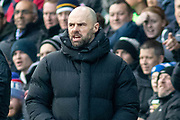Paul Warne during the EFL Sky Bet League 1 match between Peterborough United and Rotherham United at London Road, Peterborough, England on 25 January 2020.