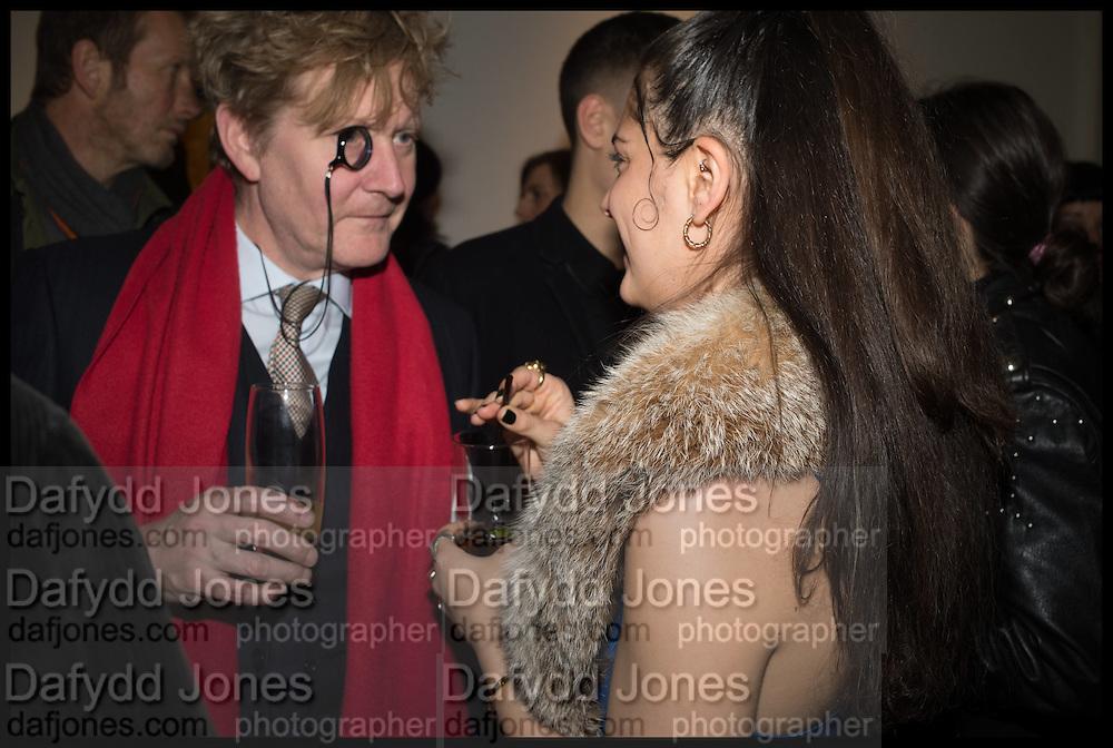 Algernon Aloysius St. John - Cholmondeley Fetherston Haugh; CAROLINE SHARP,  Private view, Paul Simonon- Wot no Bike, ICA Nash and Brandon Rooms, London. 20 January 2015