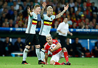 Aaron Ramsey (Wales) with the ball, Kevin De Bruyne and Radja Nainggolan (Belgium)<br /> Lille 01-07-2016 Stade Pierre Mauroy Football Euro2016 Wales - Belgium / Galles - Belgio <br /> Quarter-finals. Foto Matteo Ciambelli / Insidefoto