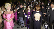 Playgirl bunny and Gillian Anderson's thong. Vanity Fair  Oscar night party. Morton's. Los Angeles. 25 March 2001. © Copyright Photograph by Dafydd Jones 66 Stockwell Park Rd. London SW9 0DA Tel 020 7733 0108 www.dafjones.com