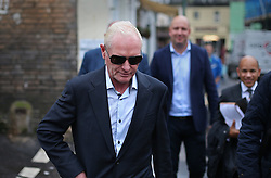 © Licensed to London News Pictures. 29/10/2015. Bournemouth, UK. Paul Gascoigne walks back to Bournemouth Magistrates Court after pleading guilty to harassment and assault charges. Photo credit: Peter Macdiarmid/LNP