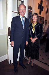 COUNT & COUNTESS NIKOLAI TOLSTOY-MILOSLAVSKY at a Literary Evening to celebrate the publication of Masters & Commanders by Andrew Roberts held at The Polish Institute and Sikorski Museum, 20 Princes Gate, London SW7 on 1st October 2008.