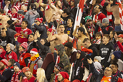 STYLEPREPENDRed Bulls fans celebrate during 2nd leg MLS Cup Eastern Conference semifinal game between Red Bulls and Columbus Crew SC at Red Bul Arena Red Bulls won 3 - 0 agregate 3 - 1 and progessed to final (Credit Image: © Lev Radin/Pacific Press via ZUMA Wire)